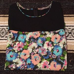 Tinley Road Watercolor Print Crepe Blouse NWOT